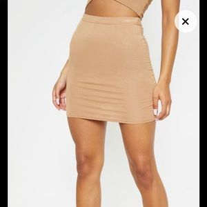 Camel Color Skirt😇